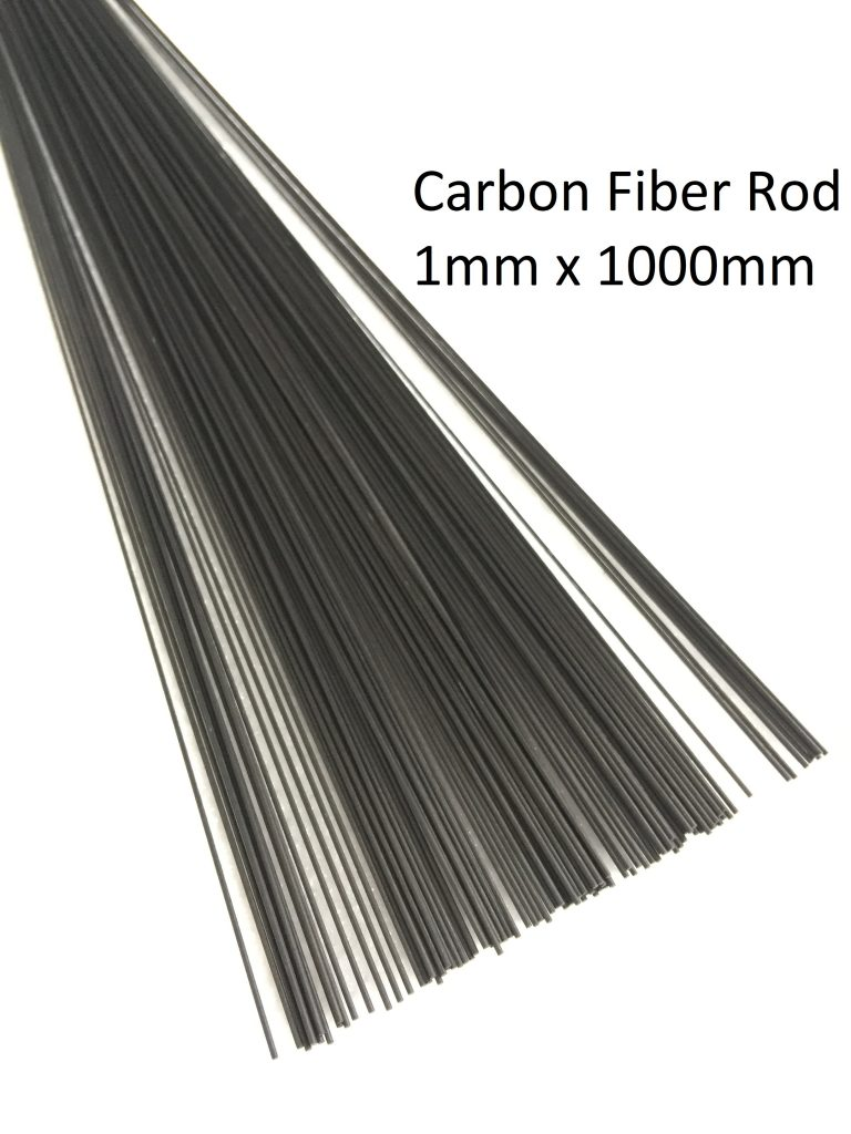 ABEST 1mm Diameter x 1000mm Length Carbon Fiber Solid Rod Round Bar Pin pcs Approx. 0.04 x 39.37 6